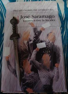 Portada del libro Ensayo sobre la lucidez, de José Saramago