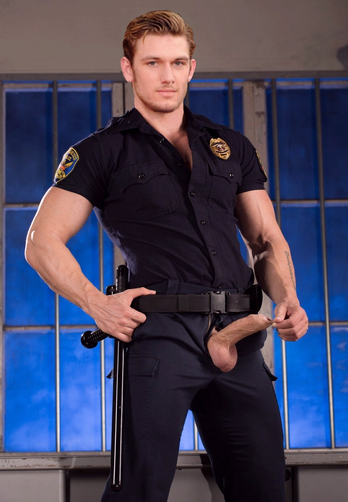 Cop Gay Porn Photo