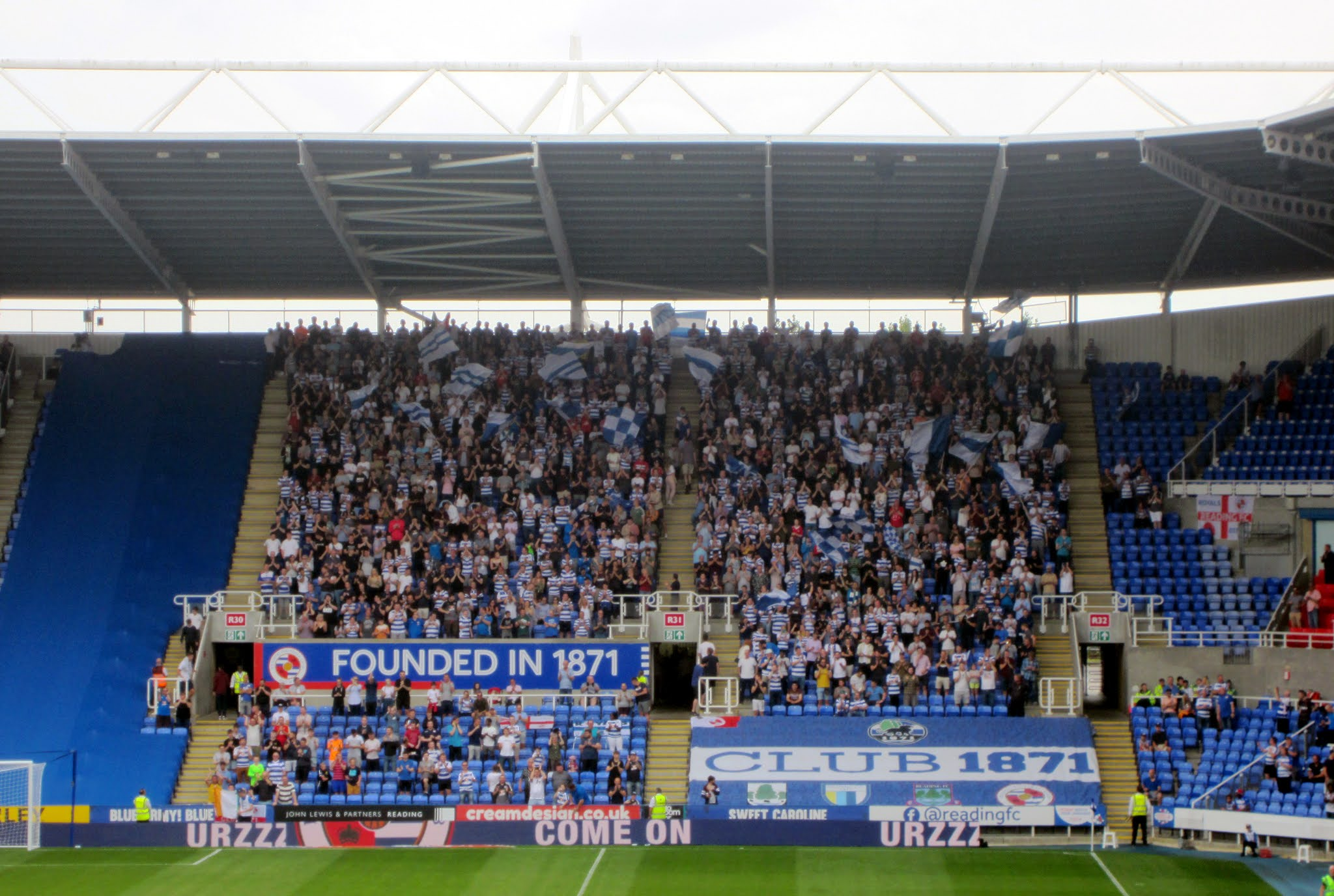 Club 1871 in the South Stand at Madejski Stadium