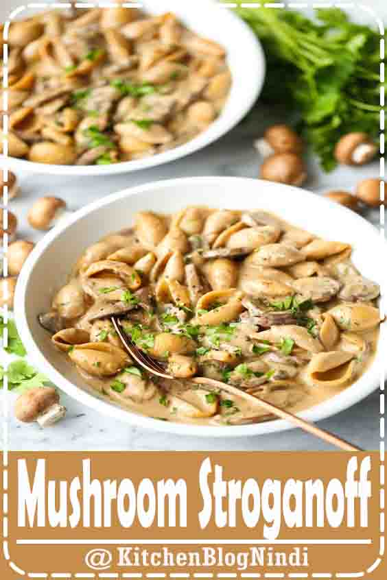 4.8 ★★★★★ | This vegetarian Mushroom Stroganoff recipe is quick and easy to make in about 30 minutes, and it is perfectly comforting, hearty, savory, and delicious. Feel free to serve over egg noodles, traditional pasta, quinoa, veggies, or whatever sounds delicious.#Mushroom #Stroganoff