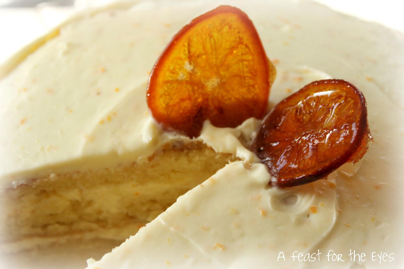 Orange Cake Icing Recipes: A Feast For The Eyes: Fresh Orange Cake With Orange Cream