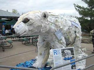 Poly The Polar Bear at Washed Ashore Toronto Zoo