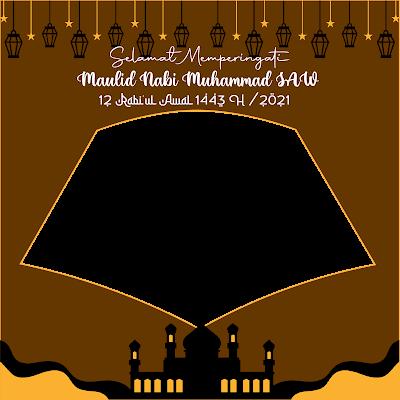 twibbon maulid nabi muhammad 1443 h - kanalmu