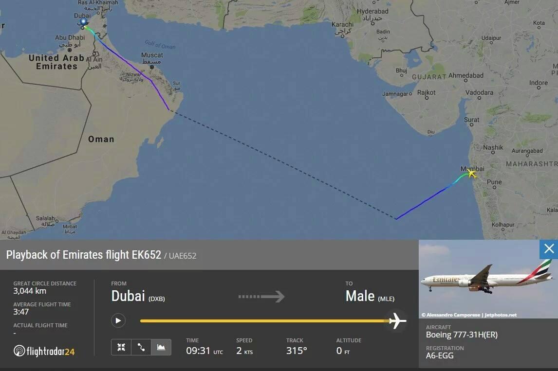 Emirates flight EK652 made emergency landing in Mumbai