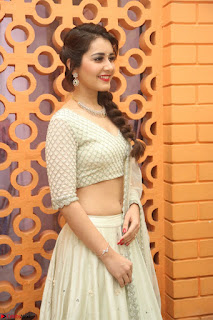 Raashi Khanan looks stunning in Crop Top Deep neck Choli Ghagra Transparent Chunni WOW ~  Exclusive Celebrities Galleries 053.JPG