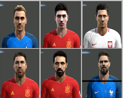 PES 2013 Facepack euro 2016 by Hamido Facemaker