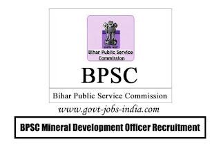 BPSC Mineral Development Officer Recruitment 2020