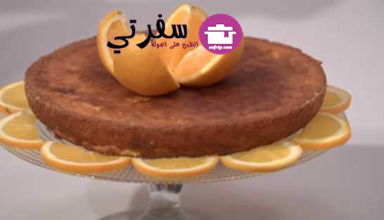 البسيسة بالبرتقال ( كيكة الذرة ) فاطمه ابو حاتي