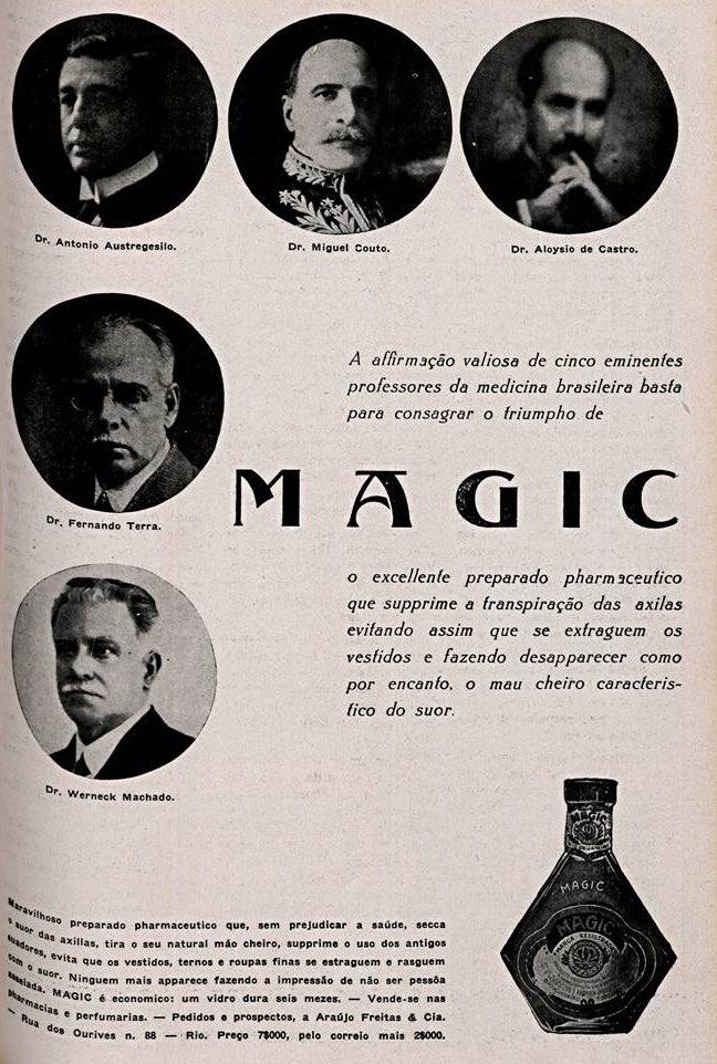 Propaganda antiga do desodorante Magic apresentado em 1932