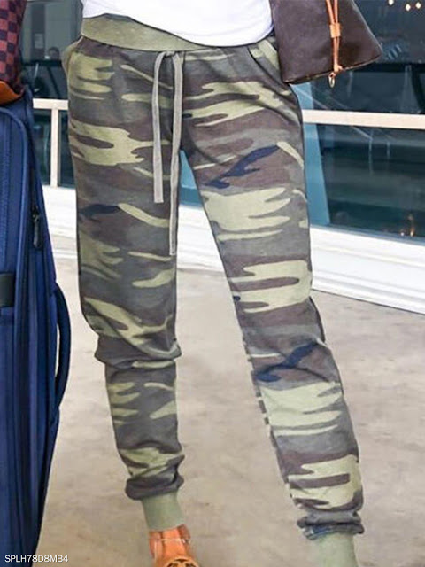 Fashion camouflage digital printed casual pants