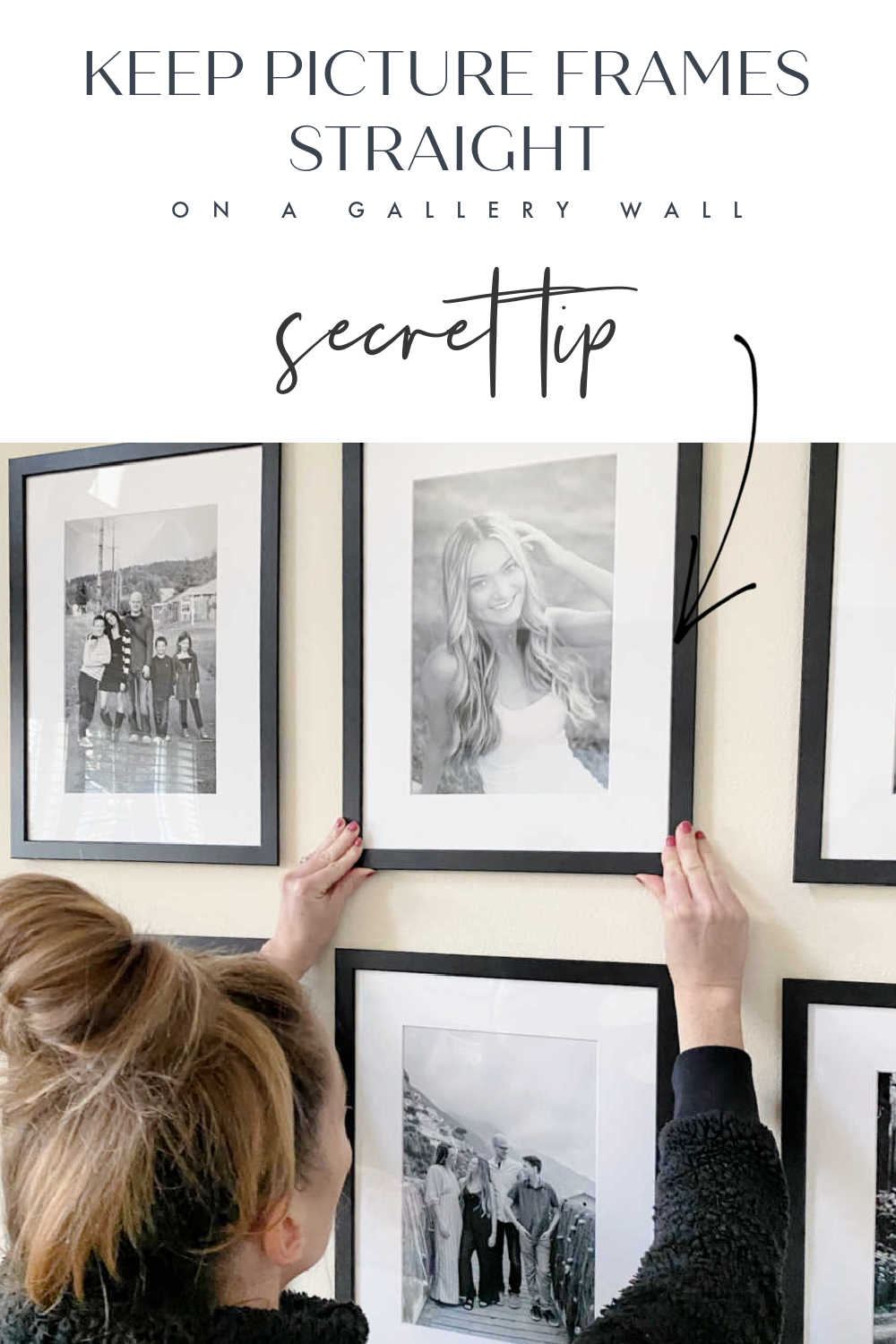 gallery wall straight frames