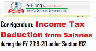 corrigendum-income-tax-deduction-from-salaries-during-the-fy-2019-20-under-section-192