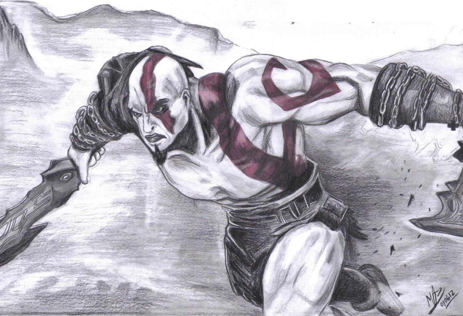 A Historia De Um Desenho Kratos God Of War