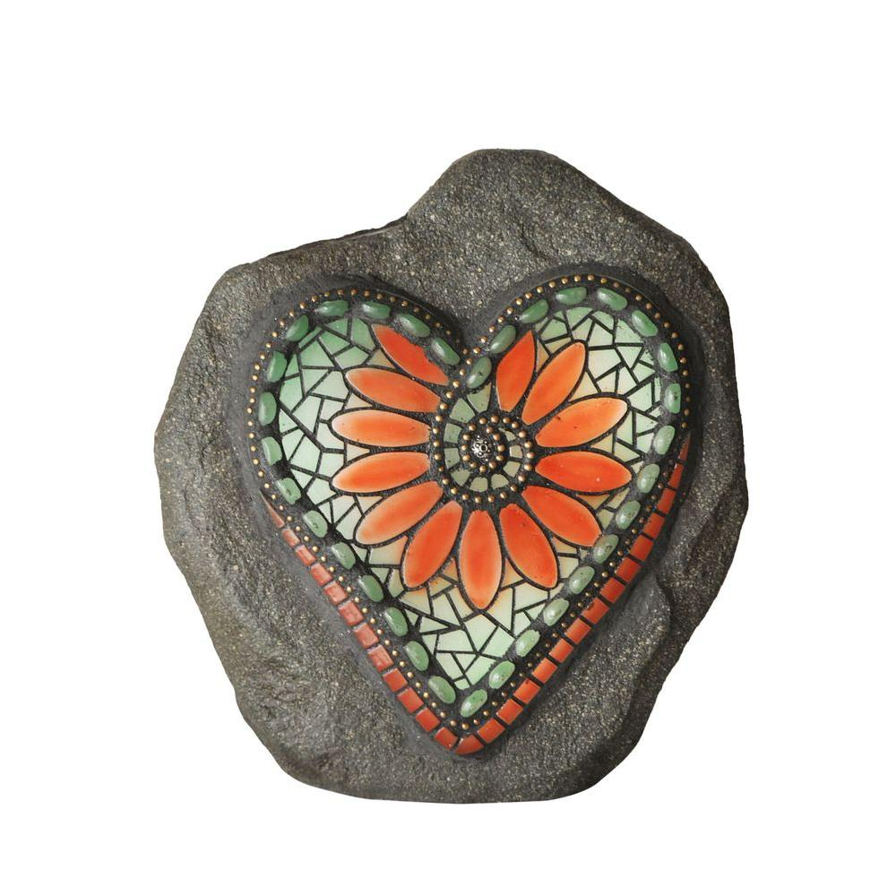 Glowing heart rock nightlight from home depot