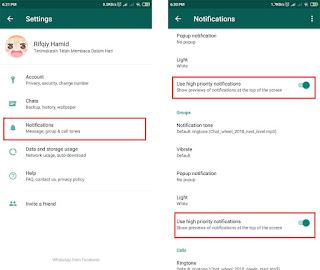 memperbaiki notifikasi whatsapp di aplikasi whatsapp
