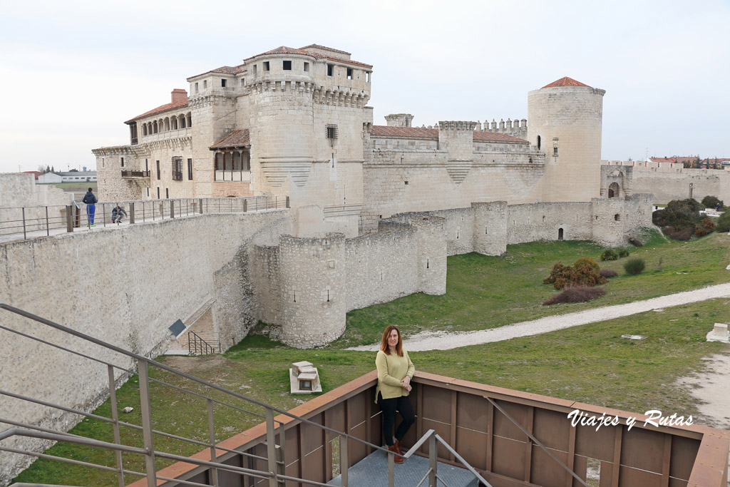 Vistas del casillo desde la Muralla de Cuéllar, Segovia