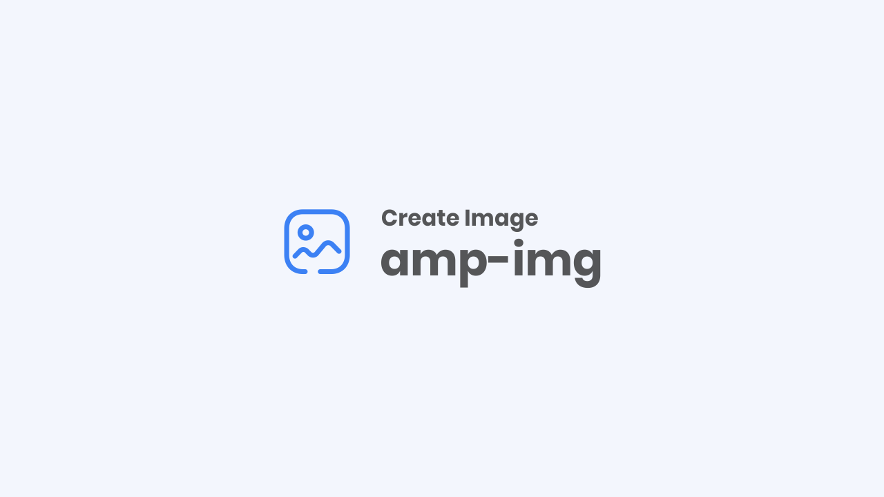How to Add Image in AMP