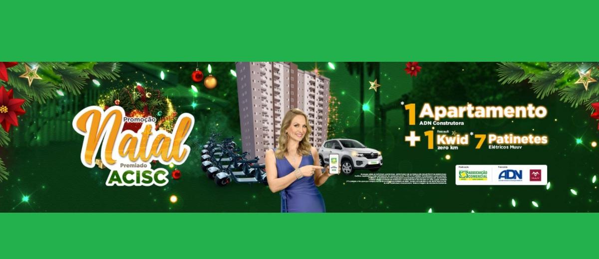 Promoção ACISC São Carlos Natal 2020 Premiado Apartamento na Cobertura, Carro e Patinetes