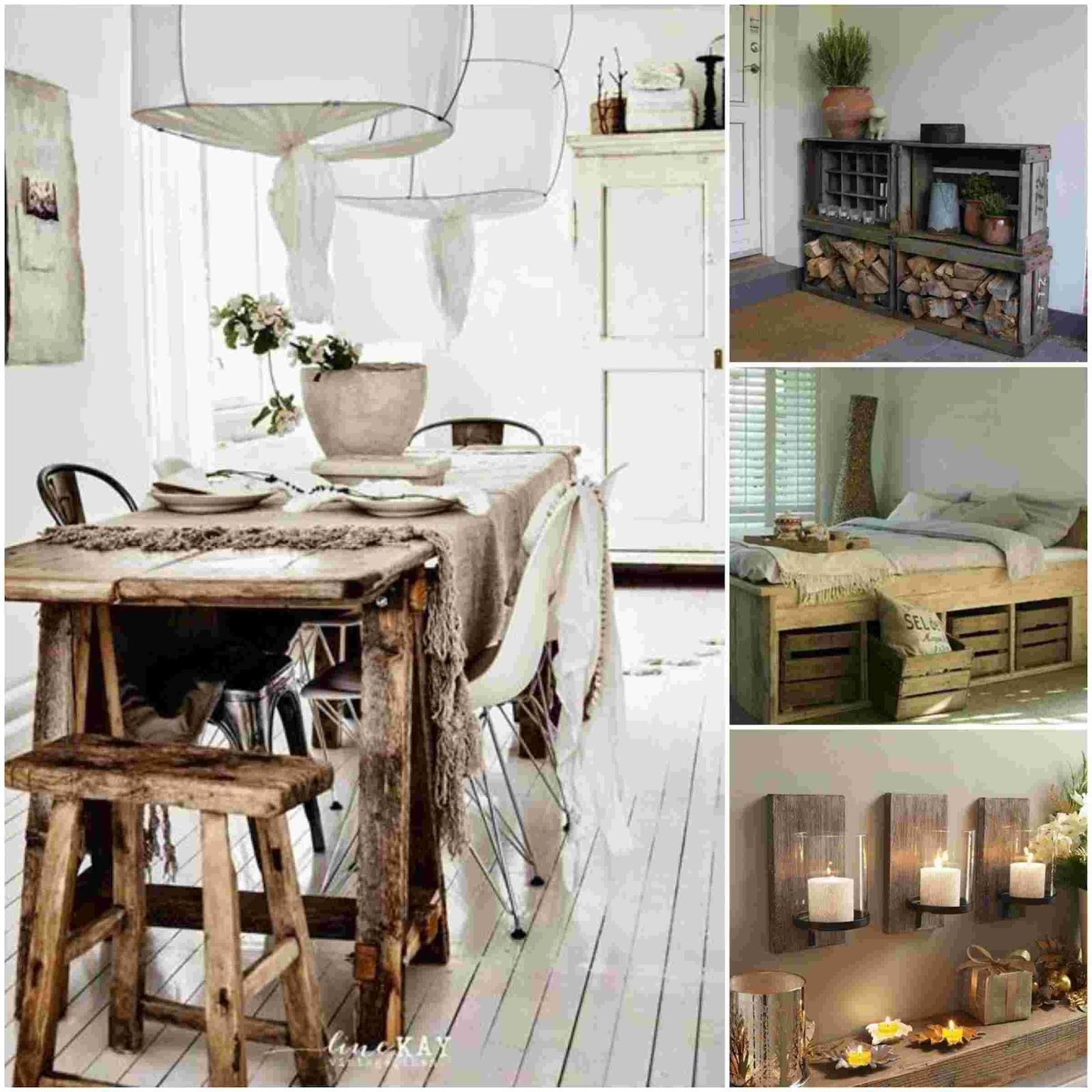 21 Rustic ideas to decorate your home - Diy Fun World