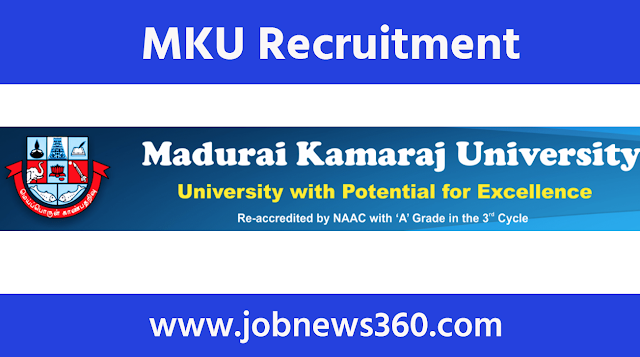 Madurai Kamaraj University Recruitment 2020 for JRF/Project Associate