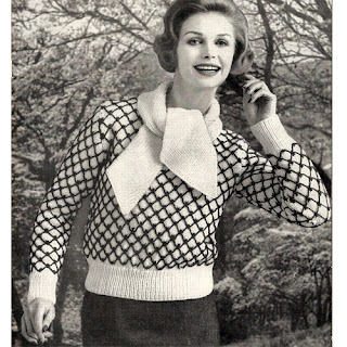 Vintage Honeycomb Pullover Sweater Knitting Pattern