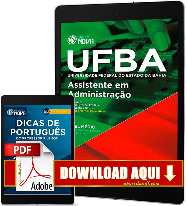 Apostila UFBA 2017 PDF Download Assistente em Administração