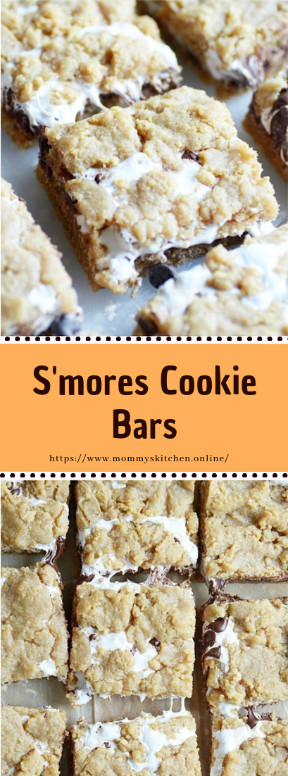S'mores Cookie Bars #dessert #easy