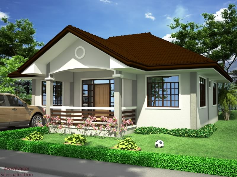 Small and simple house with small living room small for Home design pictures