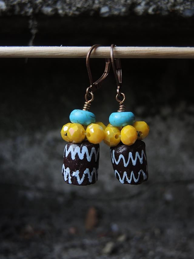 """DIY oorbellen/earrings """"Summertime"""""""