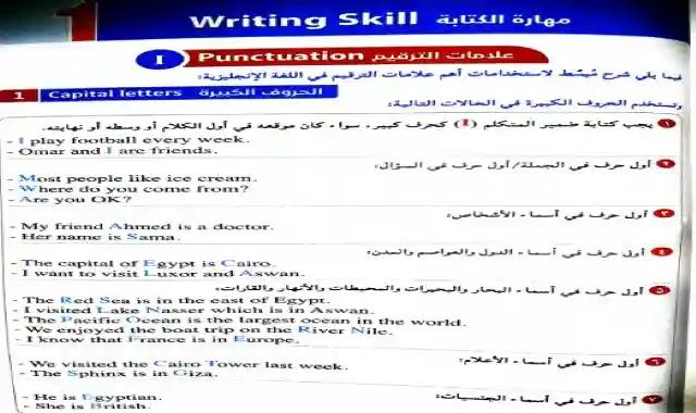 بوكليت كتاب المعاصر لحل اسئلة مهارات الكتابة Writing Skills للصف الثالث الثانوي 2021