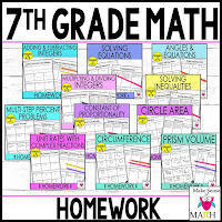 7th grade math homework for 11 topics to increase fluency and conceptual understanding