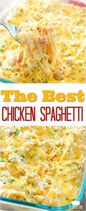 THE BEST CHICKEN SPAGHETTI #recipes #dinnerrecipes #dinnerideas #foodrecipes #foodrecipeideasfordinner #food #foodporn #healthy #yummy #instafood #foodie #delicious #dinner #breakfast #dessert #lunch #vegan #cake #eatclean #homemade #diet #healthyfood #cleaneating #foodstagram