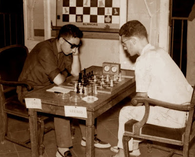 Partida de ajedrez Arribas-Grau, 12 de septiembre de 1962
