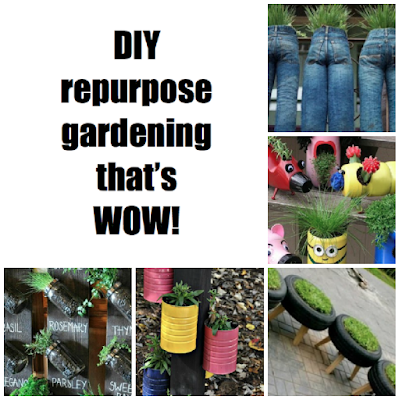 Unique repurpose gardening ideas that are WOW LOL and OMG!
