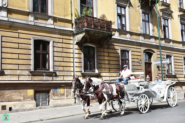 Carroza de caballos en Cracovia