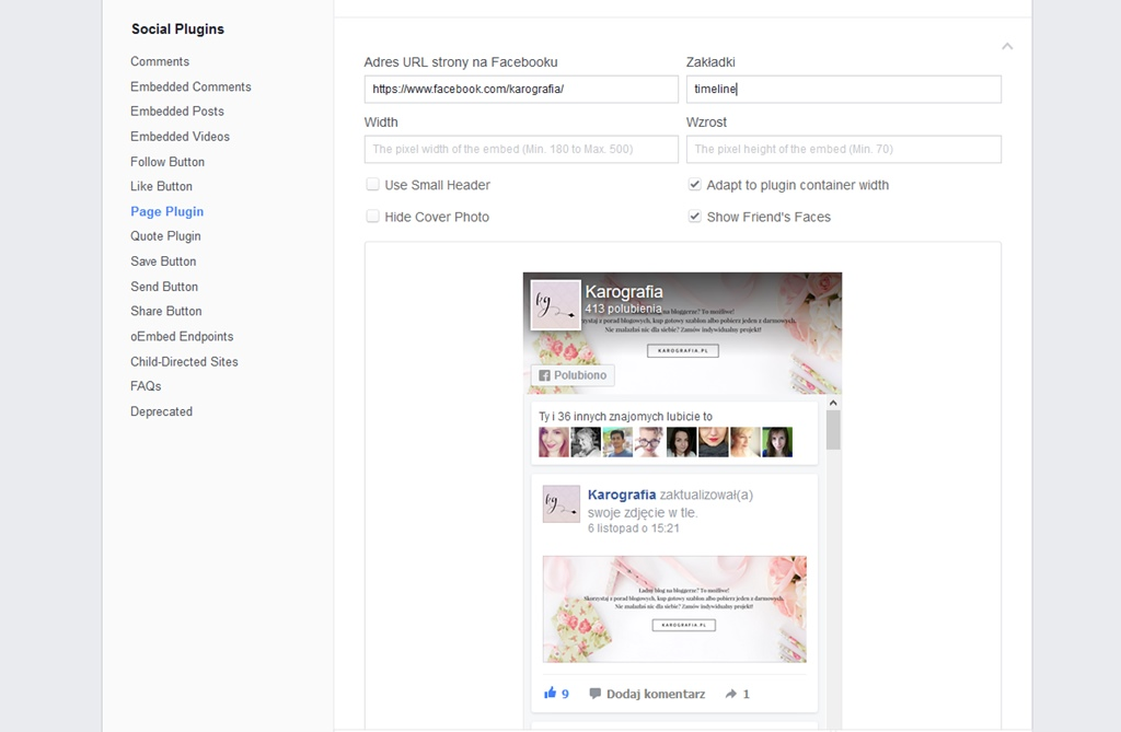 Jak dodać okienko facebooka na bloggera?