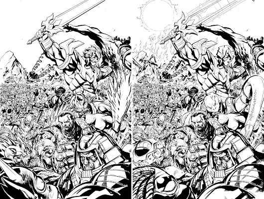 Unedited Page Art by Pop Mhan from He-Man the Eternity War #14