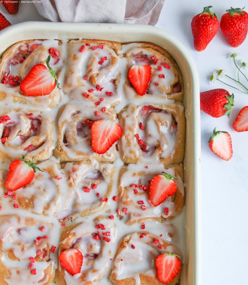 Saftige Erdbeer-Buns
