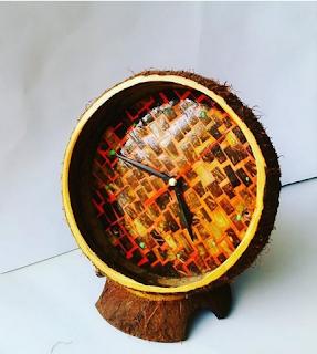 Cara Membuat Kerajinan Jam Dinding Dari Batok Kelapa Sederhana Beserta Gambarnya