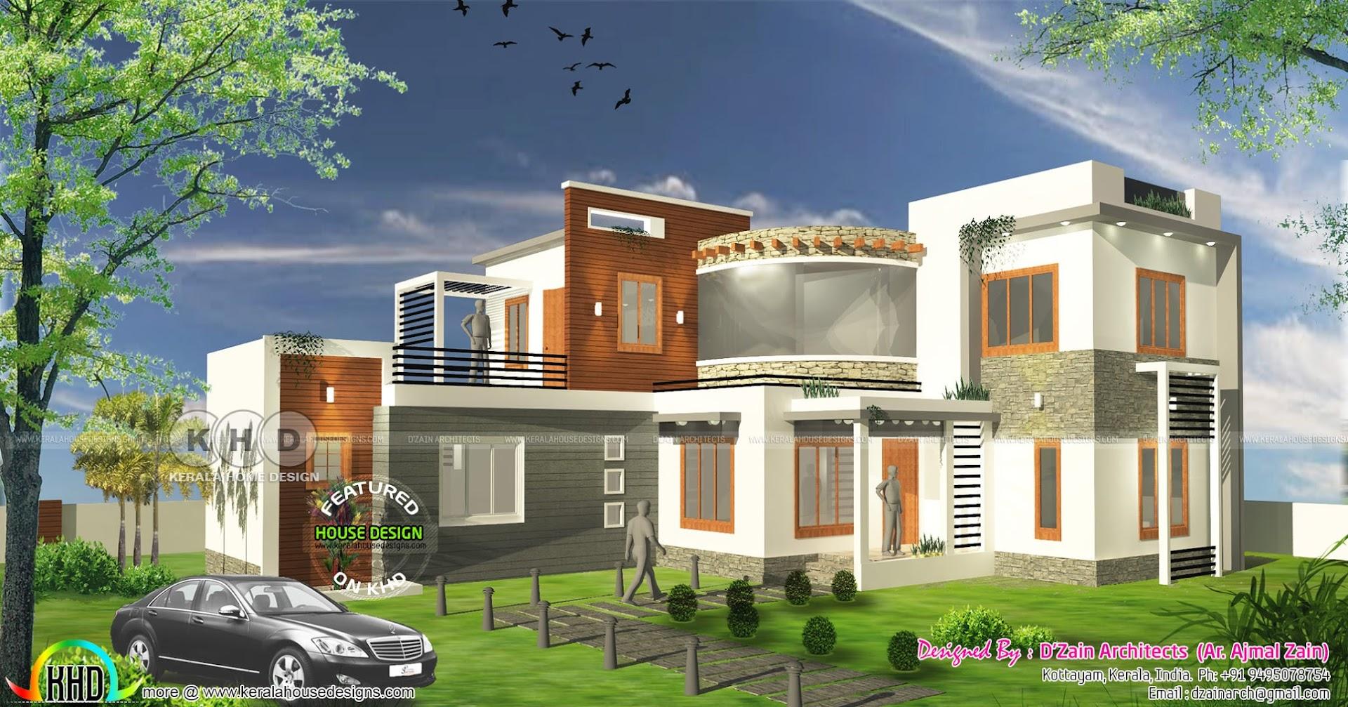 4 bhk modern contemporary home 1800 square feet kerala for 4 bhk home design