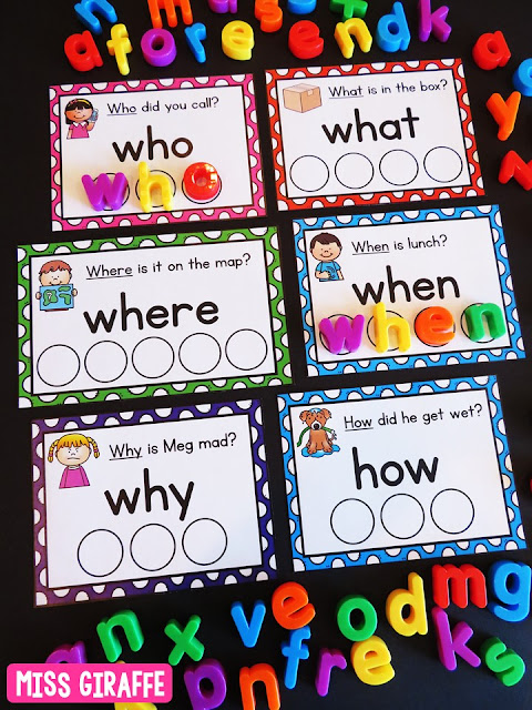 Teaching question words? These games and activities are so much fun!