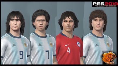 PES 2019 Classic Facepack Argentina by MictlanTheGod
