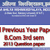Davv B.com 3rd Sem Previous Year Paper