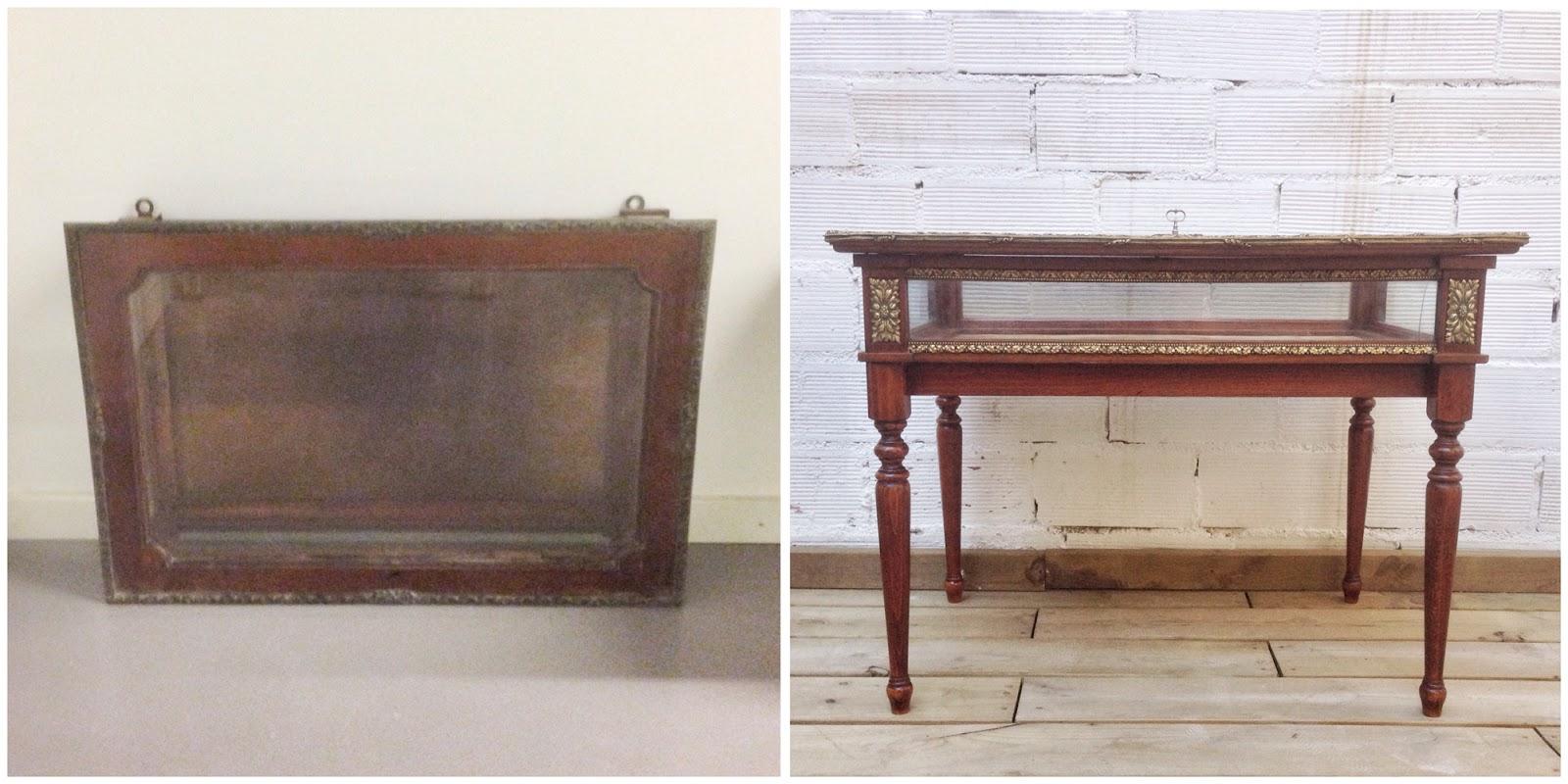 Antes y después - de vitrina a mesita - Studio Alis