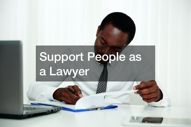 Support People as a Lawyer
