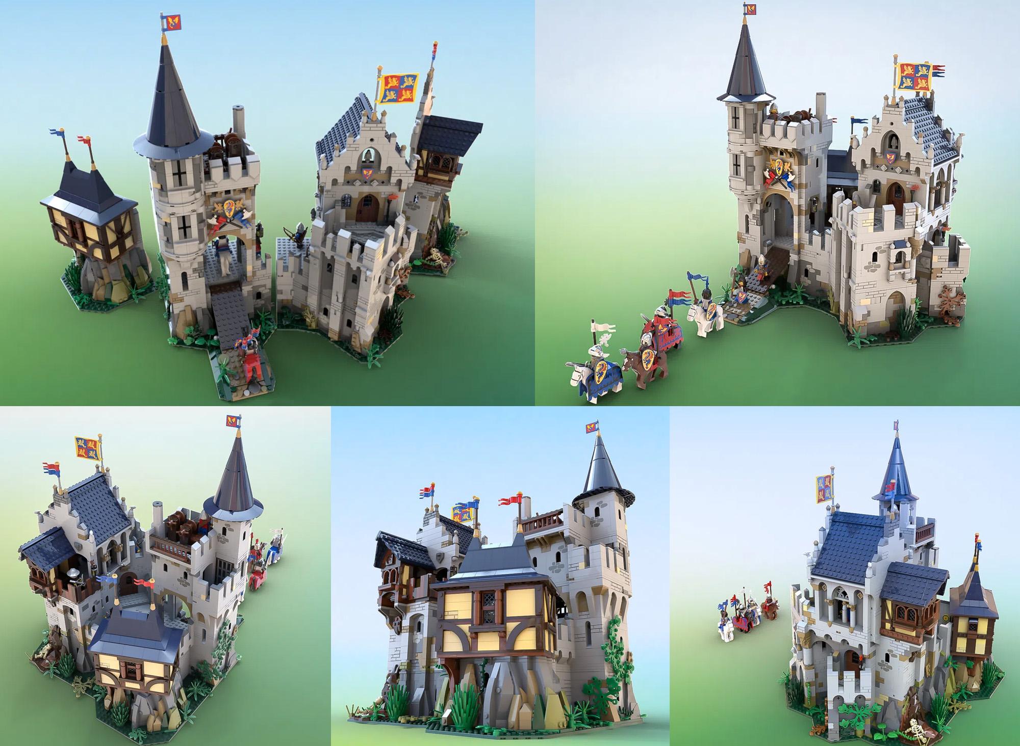 レゴアイデアで『アフォル卿と黒騎士の城』が製品化レビュー進出!2020年第3回1万サポート獲得デザイン紹介