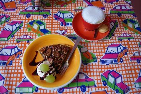 tarte noix de pécan et cappuccino