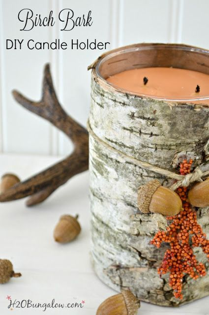 Birch Bark Candle Holder DIY