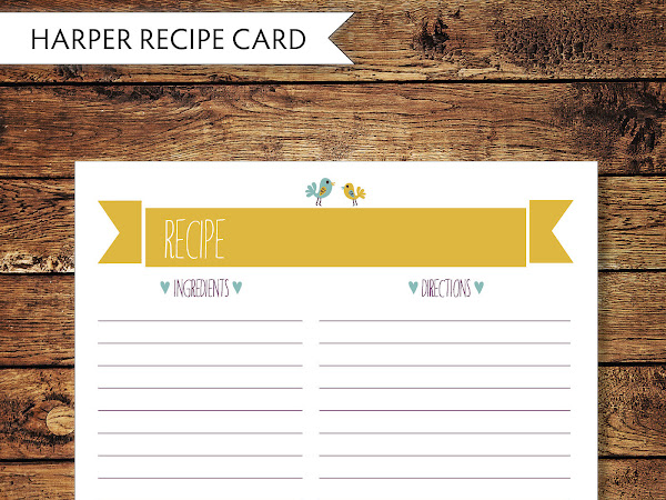 Party Add-Ons - Harper Recipe Cards