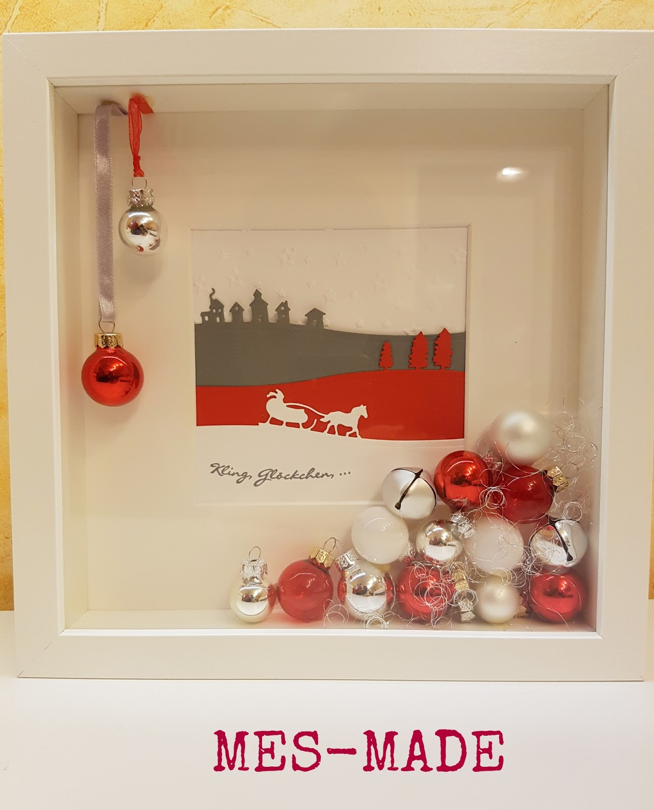 MES-MADE: Weihnachtlicher Bilderrahmen